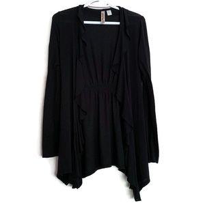 Black flowy cardigan by eyeshadow